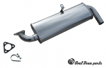 Single muffler 'Quiet pack' ceramic coated